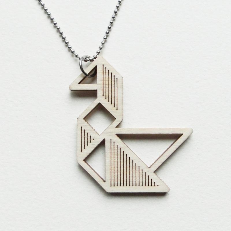 Tangram zwaan ketting stripes