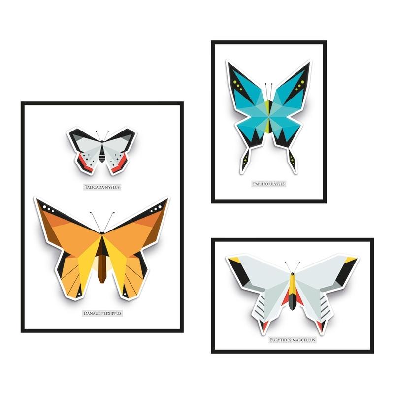 Vlinder pop up kaartenset