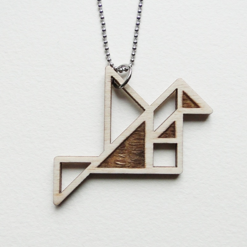Tangram vogel ketting blocks
