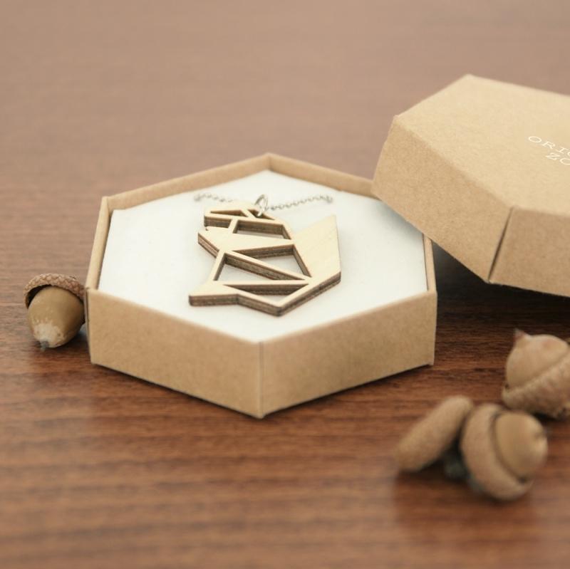 Origami eekhoorn ketting blocks