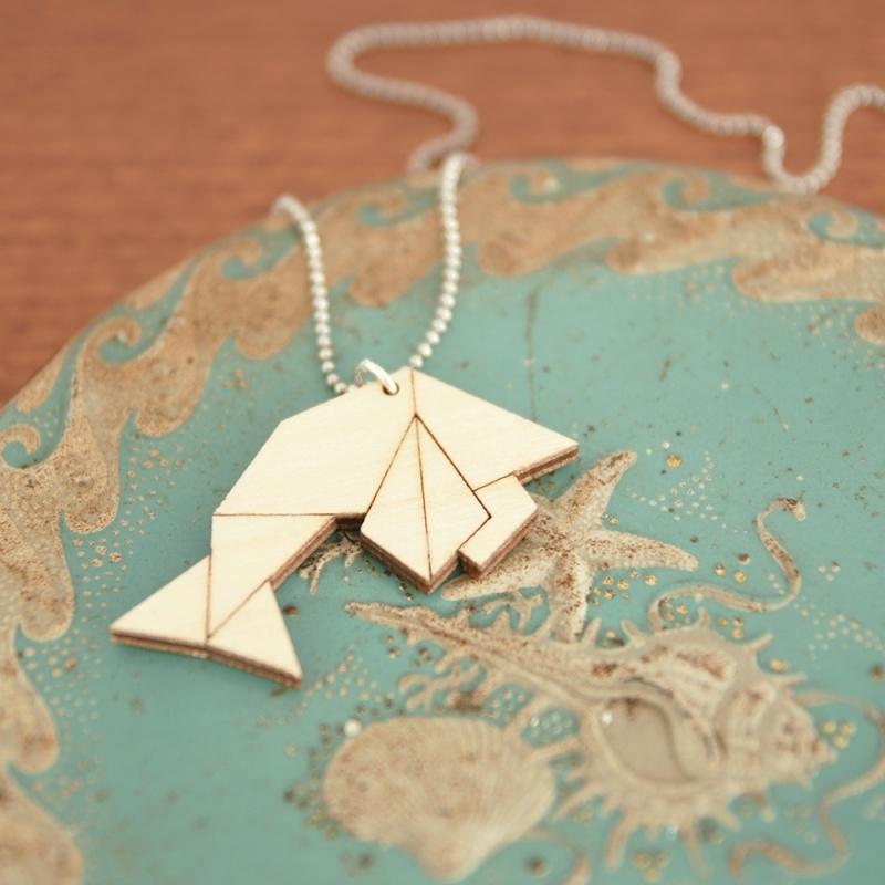 Origami vis ketting lines