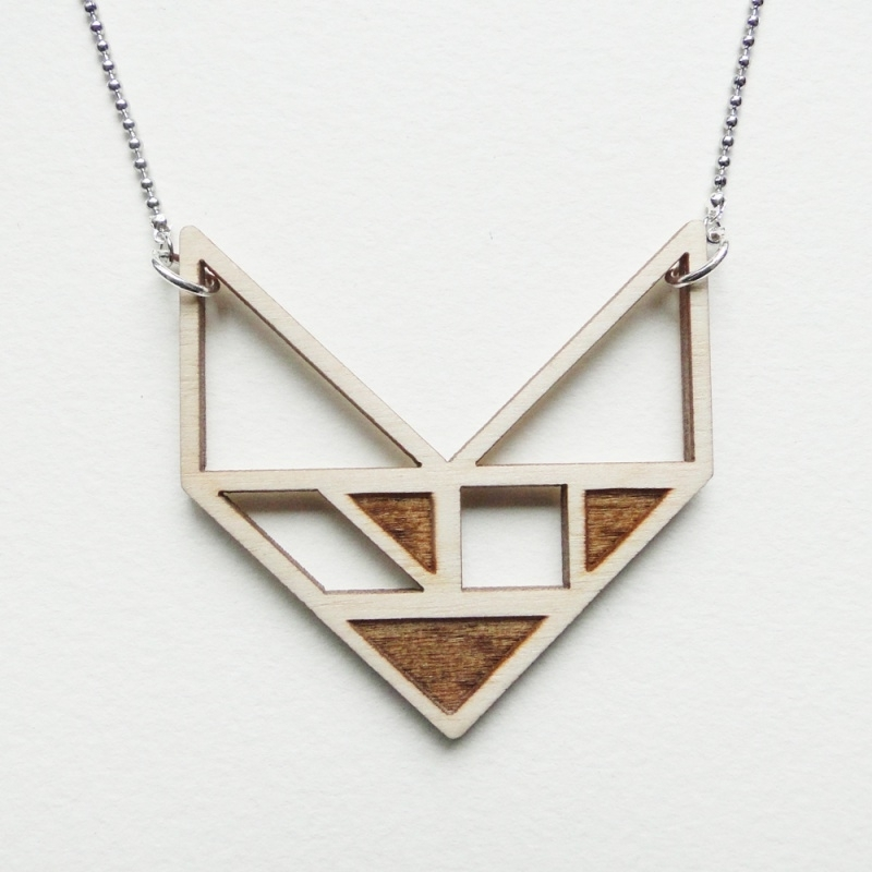 Tangram chevron ketting blocks