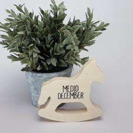 Houten giftbox labeldoekje grijs | Hoera, jullie worden oom en tante!