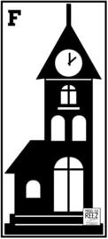 Herbruikbare statische raamfolie | Kerk F