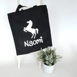 Katoenen tas | paard en naam