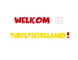 Herbruikbare statische raamfolie | Welkom in Turfstekerslaand!