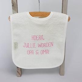 Houten giftbox tutpopje roze   Hoera, jullie worden opa en oma!