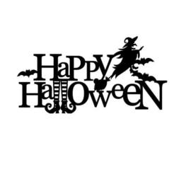 Raamsticker Happy Halloween (statische raamfolie)