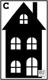 Herbruikbare statische raamfolie | Huisje C