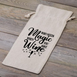 Wijnfleszak | Who needs magic when you have wine