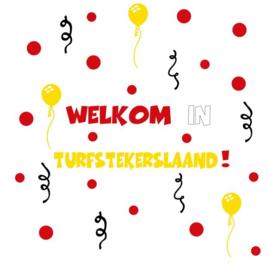 Herbruikbare statische raamfolie | Complete set Welkom in Turfstekerslaand!