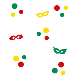 Herbruikbare statische raamfolie | Maskers en confetti