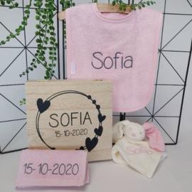 Giftbox roze | naam en datum