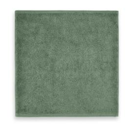 Spuugdoekje geborduurd met naam | stone green