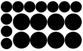 Herbruikbare statische raamfolie   Confetti 4 en 6cm