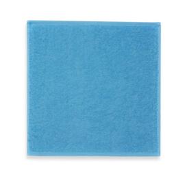Spuugdoekje met naam (licht blauw)