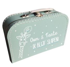 Kinderkoffertje mint groen   Oom & Tante ik blijf slapen
