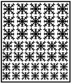 Herbruikbare statische raamfolie | Sneeuwvlokken (41 stuks)