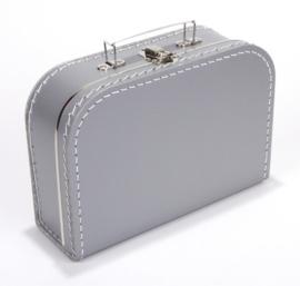 Kinderkoffertje zilver met naam
