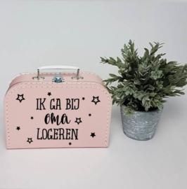 Kinderkoffertje roze | Ik ga bij oma logeren