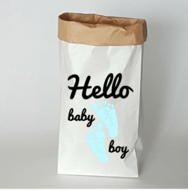 Paperbag Hello baby boy
