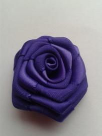 Satijnen roosje | paars