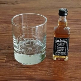 Whiskey glas | Papa plus initialen