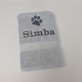 Handdoek   naam en hondenpoot