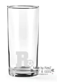 Longdrinkglas letter met voetbal