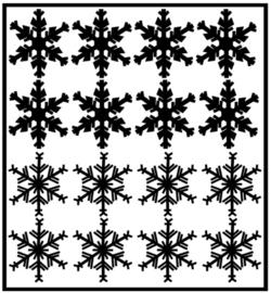 Herbruikbare statische raamfolie | Sneeuwvlokken (16 stuks)