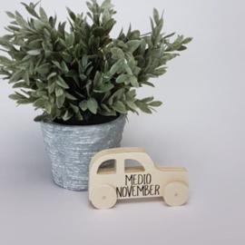 Houten giftbox tutpopje grijs | Hoera, jullie worden opa en oma!