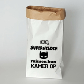 Paperbag Superheld opruimen