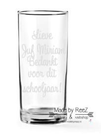 Longdrinkglas Lieve Juf