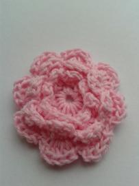 Gehaakte bloem | 4,5cm roze