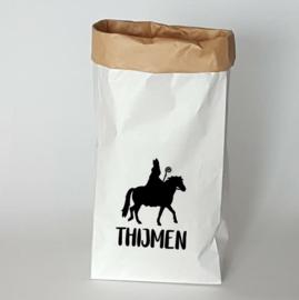 Paperbag   Sinterklaas op paard met naam