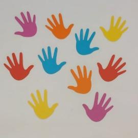 Gekleurde labels | handjes