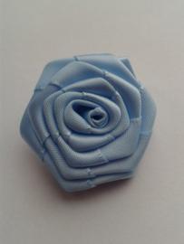 Satijnen roosje | blauw