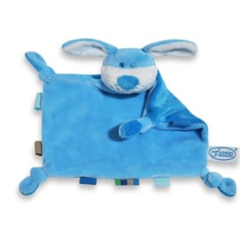 Labeldoekje hond blauw
