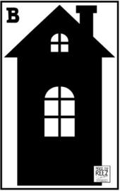 Herbruikbare statische raamfolie | Huisje B