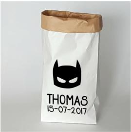 Paperbag Superheld met naam