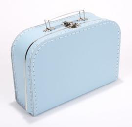 Kinderkoffertje licht blauw met naam