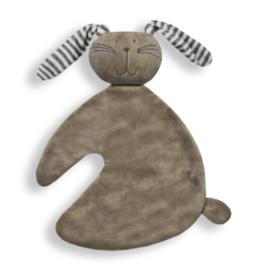 Houten giftbox knuf konijn grijs | Hoera, jullie worden oom en tante!