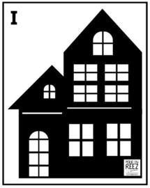 Herbruikbare statische raamfolie | Huisje I