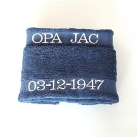 Handdoek met naam  (marine)