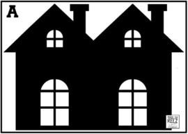 Herbruikbare statische raamfolie | Huisje A