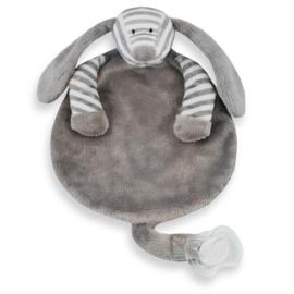 Speendoekje hond grijs