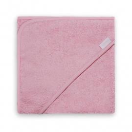 Badcape met naam (roze)