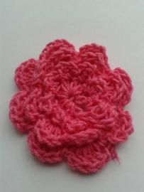 Gehaakte bloem | 4,5cm fuchsia