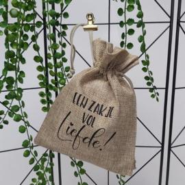 Jute-look zakje 15x20cm | Een zakje vol liefde!