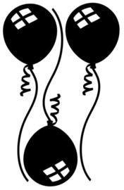 Herbruikbare statische raamfolie | Ballonnen